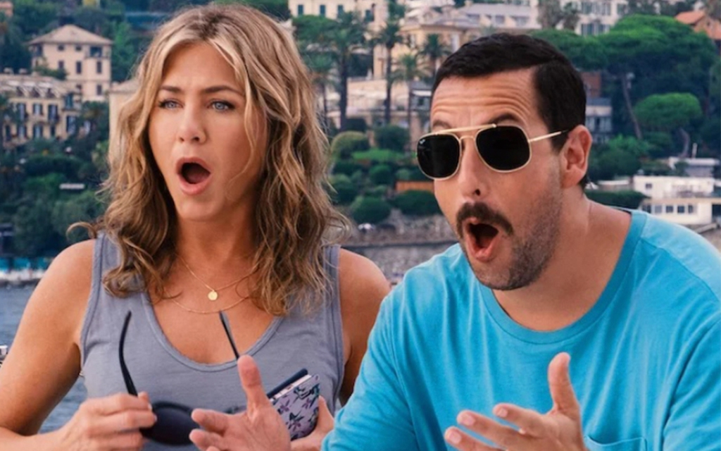 Jennifer Aniston , Adam Sandler ,Misterio a bordo, netflix