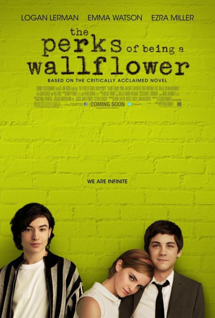 "Ezra Miller, Emma Watson y Logan Lerman, ""Perks of being a wallpaper flower"""