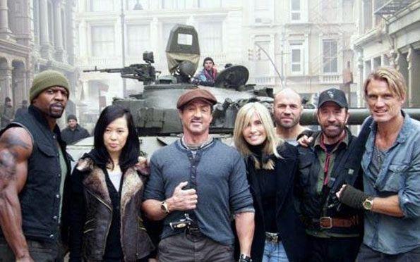 Stallone, Chuck Norris , Dolph Lundgren en Mercenarios 2