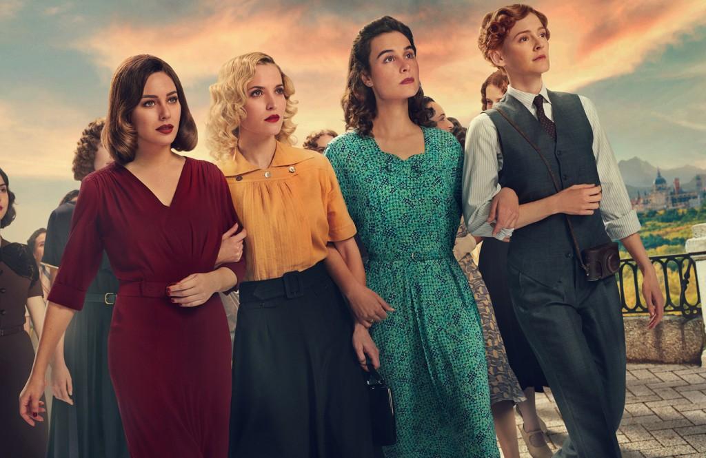 Blanca Suárez como Lidia, Maggie Civantos , Ana Fernández y Nadia Santiago , chicas del cable, netflix