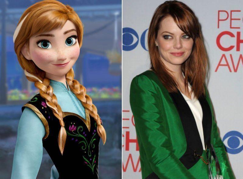 """Emma Stone como Ana de """"Frozen"""""""