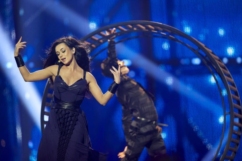 Mariya Yaremchuk, representante de Ucrania en 2014, usó una rueda de hámster en su aparición en Eurovisión, netflix