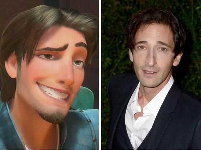 "Adrien Brody como Flynn Rider de ""Rapunzel"",netflix, disney"