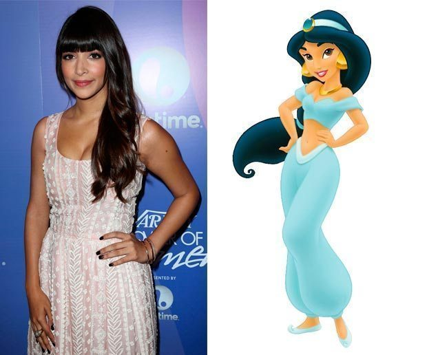 Hannah Simone ,Princesa Jasmin, Disney, Aladdin