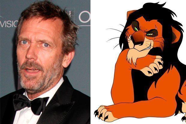 Hugh Laurie como Scar, disney, el rey león
