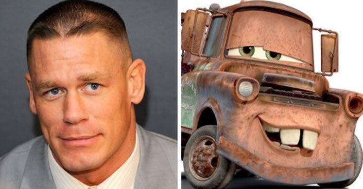 John Cena como Mater, disney
