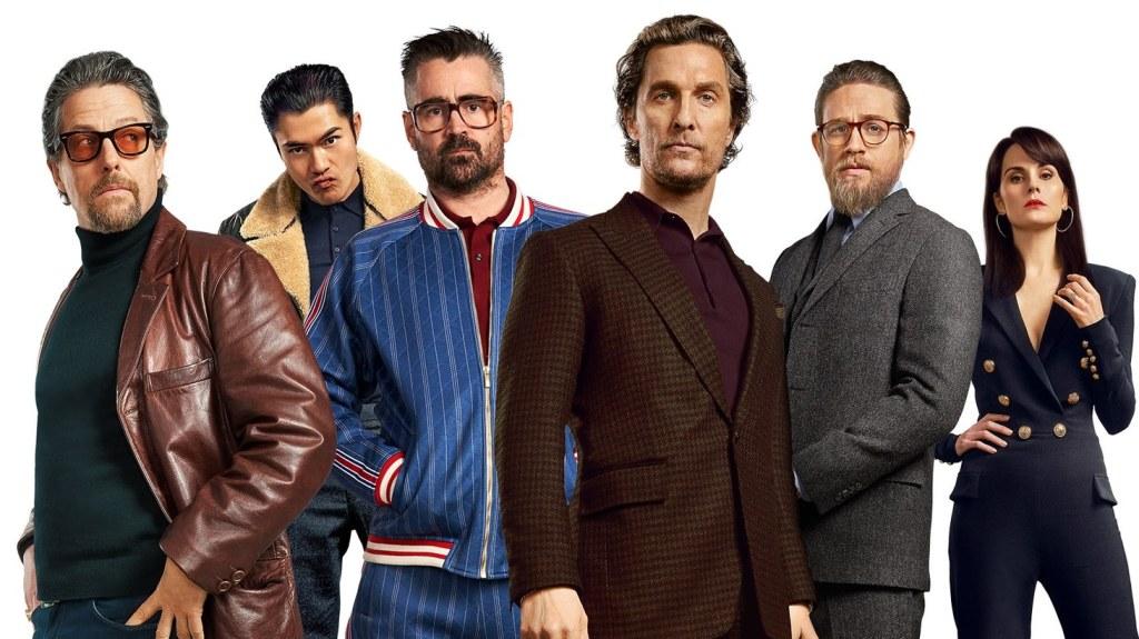 Hugh Grant, Jason Wong, Colin Farrell, Matthew McConaughey, Charlie Hunnam y Michelle Dockery, The Gentlemen, netflix