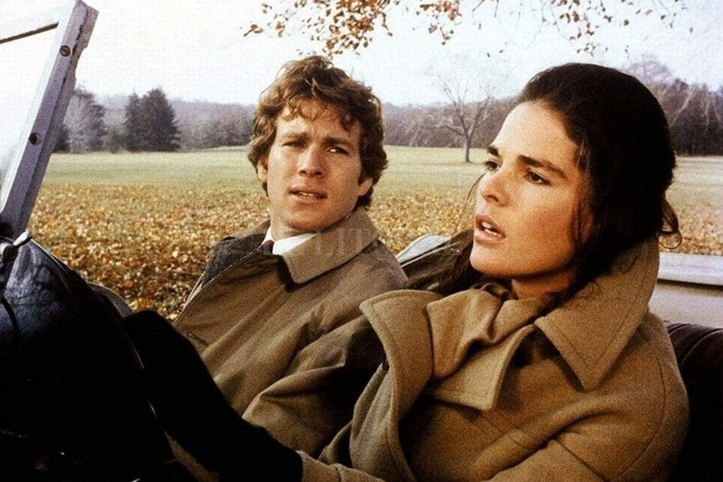 Ryan O'Neil y Ali MacGraw en Love Story