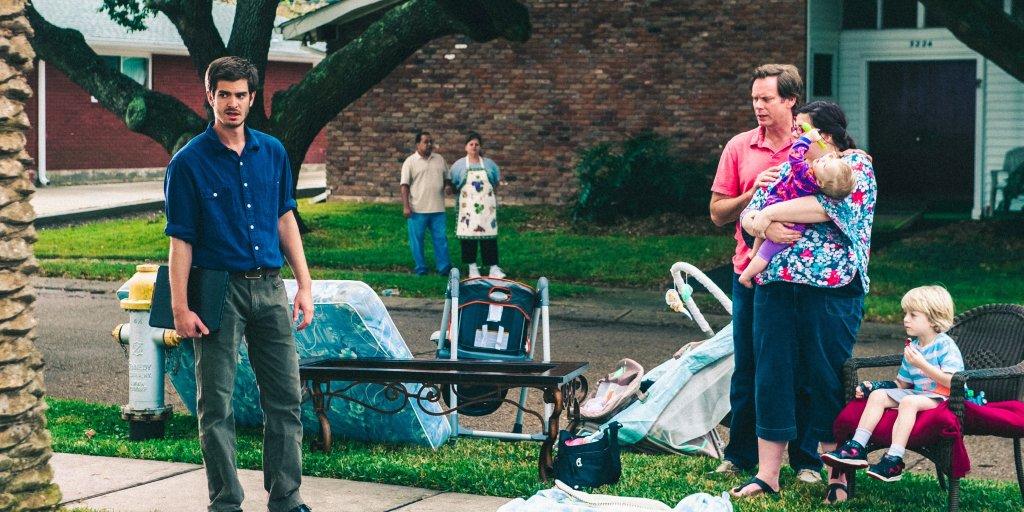 """Andrew Garfield en la película """"99 Homes"""""""