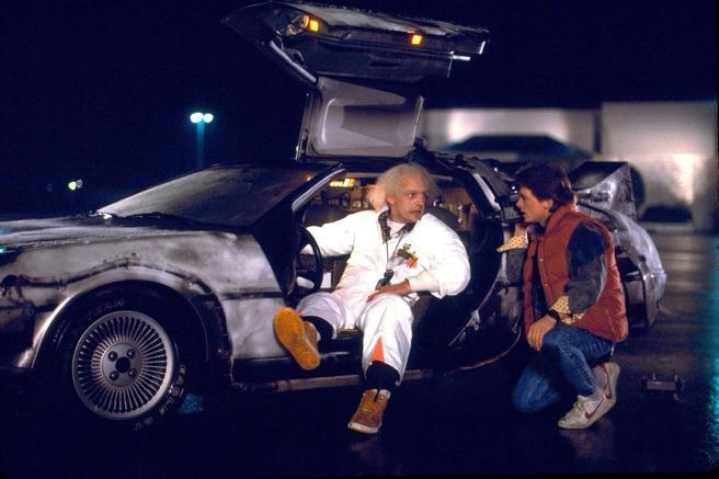 Christofer Lloyd , Michael J. Fox , Volver al futuro