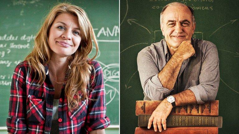 """Mille Dinesen y Francesc Orella, protagonistas de """"Rita"""" y """"Merlí"""""""