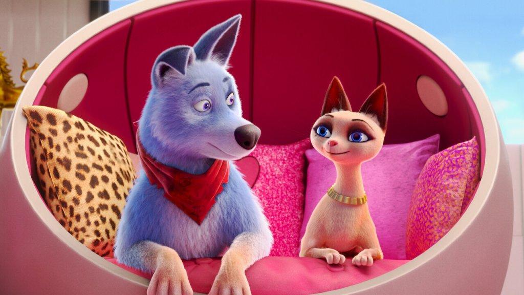 """Roger y Belle en """"Mascotas Unidas"""""""