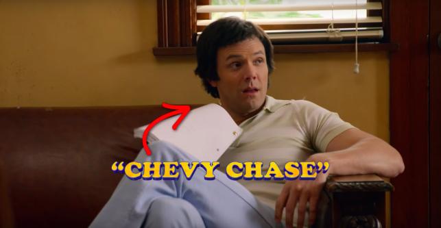 """Joel McHale ,Chevy Chase,""""Un gesto estúpido e Inútil"""""""