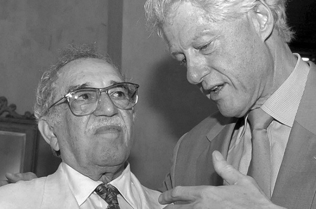 Gabriel Garcia Márquez y Bill Clinton