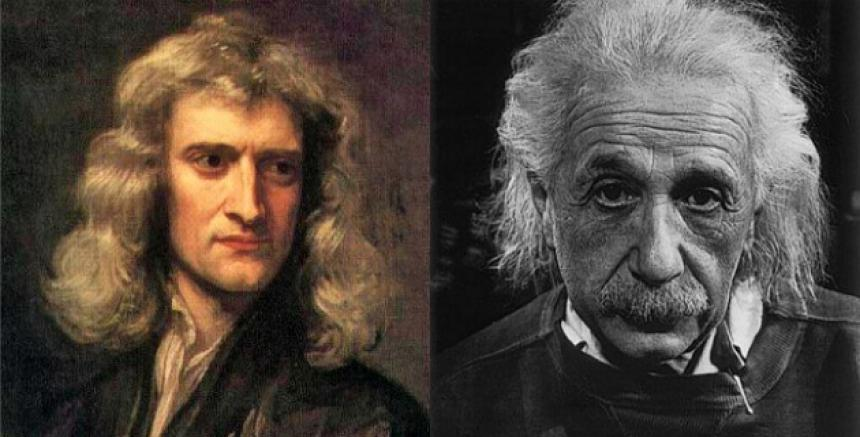 ,Isaac Newton , Albert Einstein , Dark